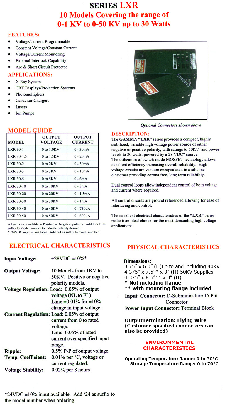 Gamma High Voltage Series Lxr Circuits Current Controlled Source Indep